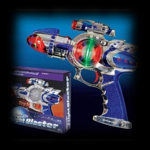 Alien Blaster Laser Gun with Lights Halloween Costume Accessory Idea