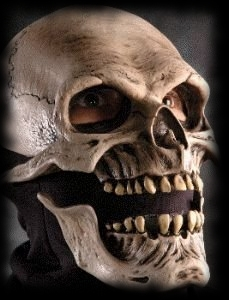 Halloween Costumes and Mask Ideas Moving Jaw Skeleton Mask