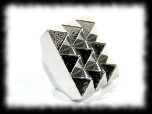 Werewolf Hunter Costume Accessory Idea Silver Studded Ring