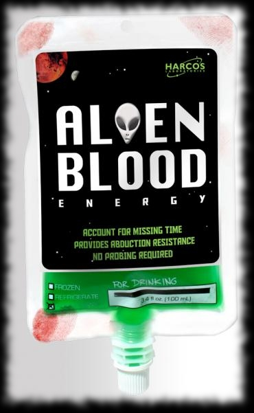 Alien Blood IV Bag Halloween Candy Idea for your Party