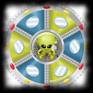 Alien Flying Disc Balloon for Halloween Theme Parties