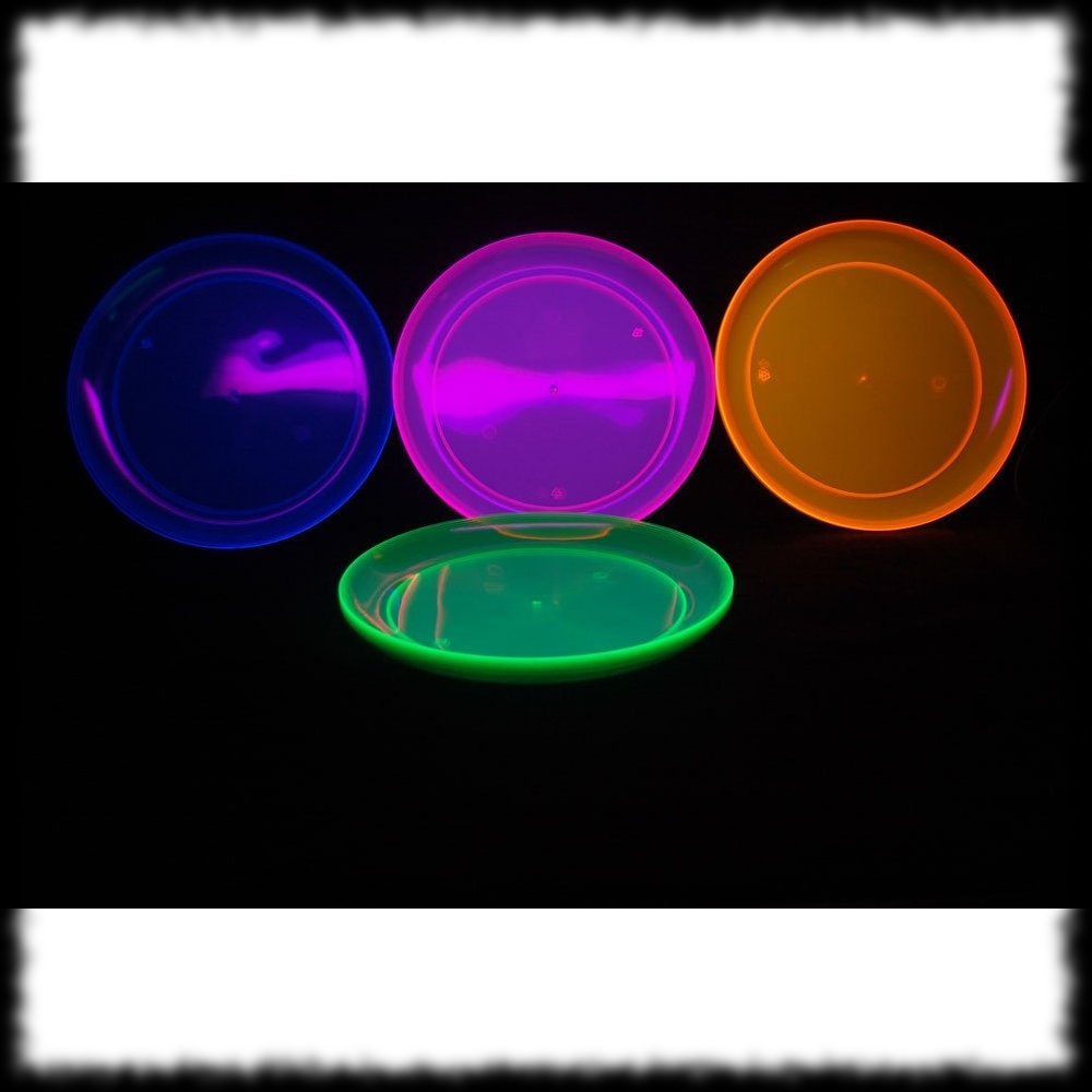 Black Light Reactive Dinner Plates For Halloween Parties