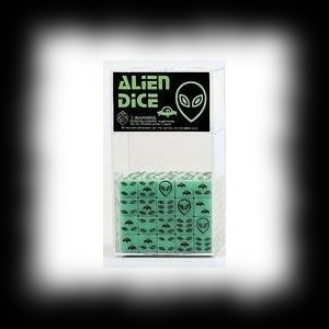 Glow In The Dark Alien Dice for Halloween Party Games