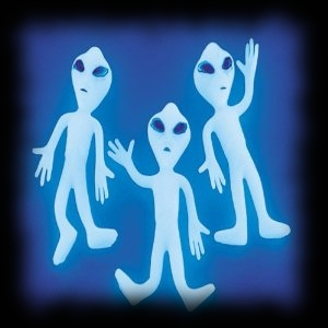 Glow In The Dark Alien Figures for Halloween Decoration