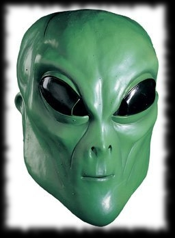 Green Lizard Alien Halloween Mask For Sale
