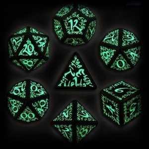 Glowing Alien Dice for Halloween Party Games