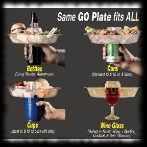 Party Dinner Plate and Drink Holder in One!