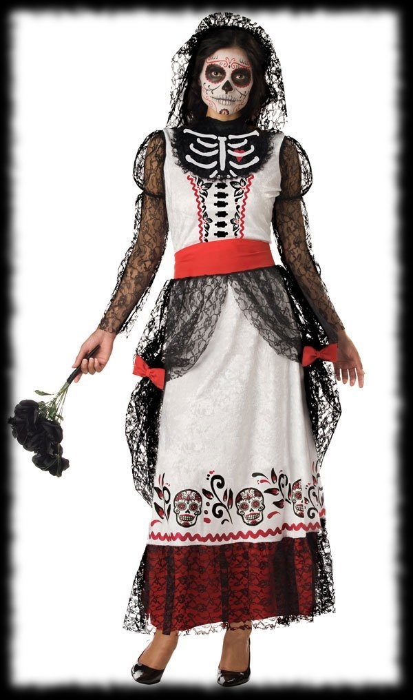 Day Of The Dead Halloween Dead Bride Costume