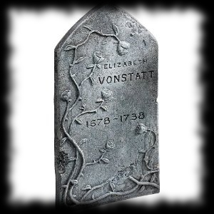 Elizabeth Vonstatt Tombstone Halloween Graveyard Decoration