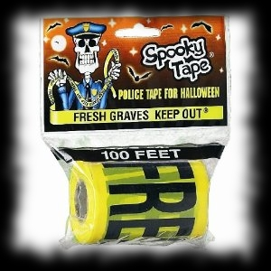 Fresh Grave Keep Out Crime Scene Tape Halloween Decoration