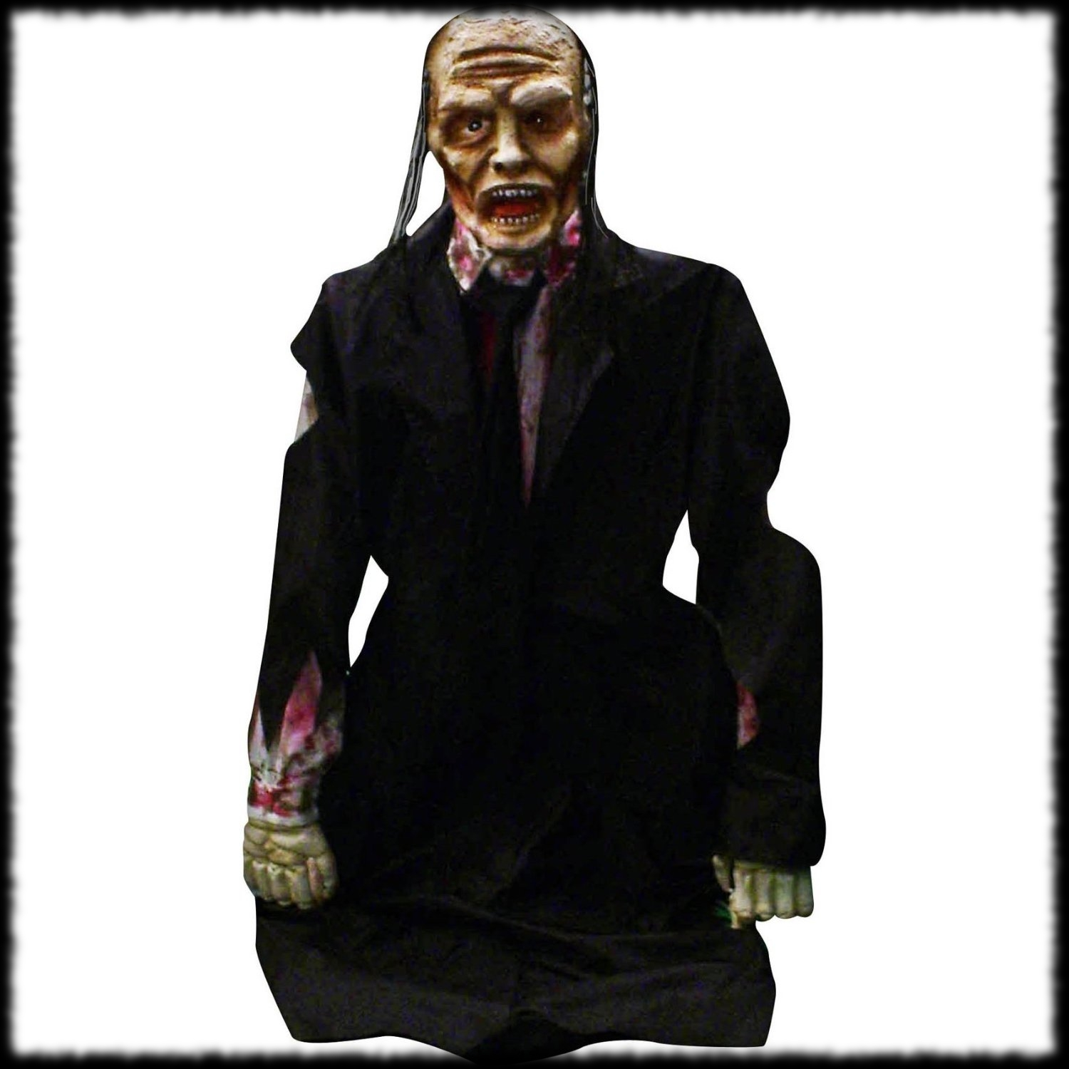 Animated Pop Out Of The Ground Zombie Corpse Halloween Prop