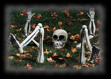 Light Up Skeleton Ground Breaker Halloween Decoration