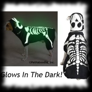 Glow In The Dark Dog Costume for Canines Skeleton