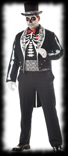 Day of the Dead Top Hat Halloween Costume For Sale