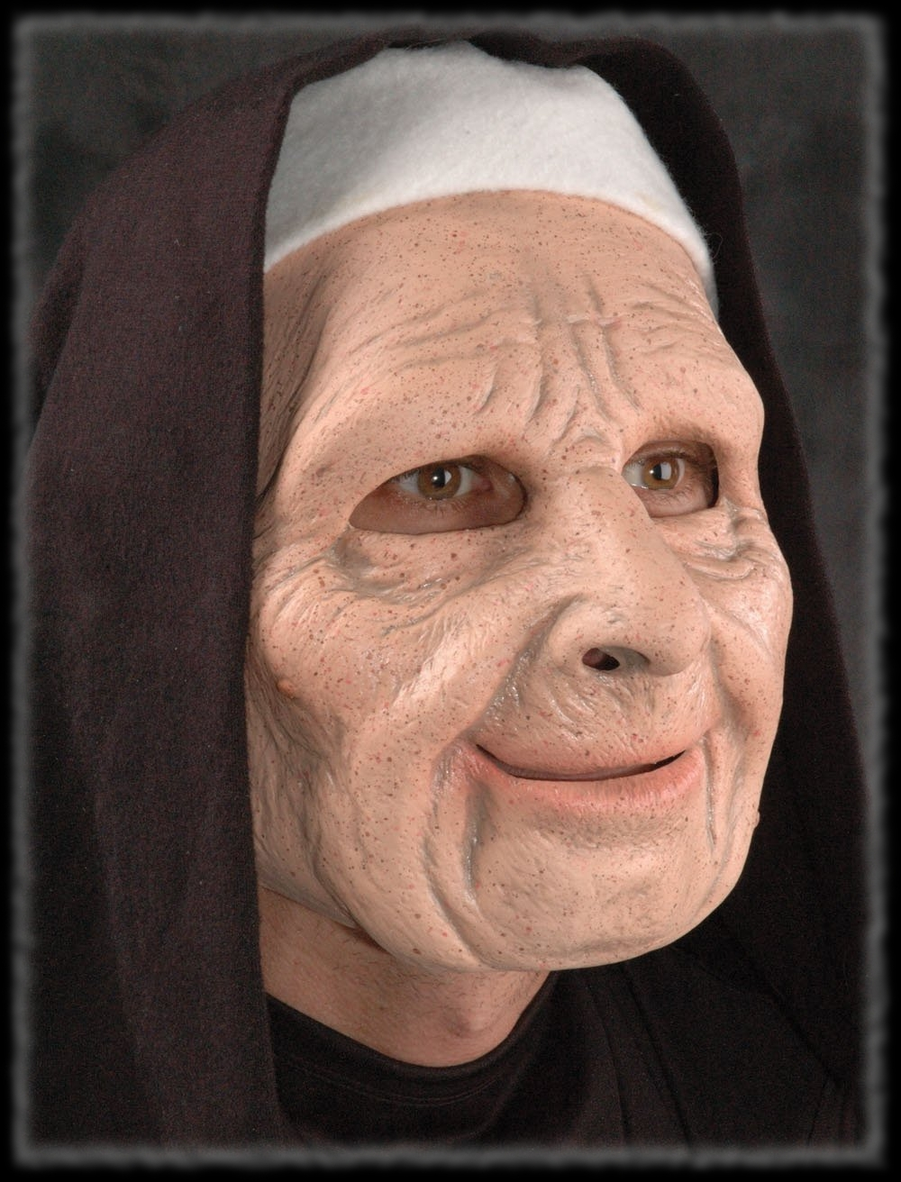Old Nun Mask for Halloween Graveyard Party Ideas