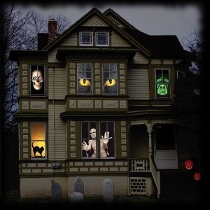 Haunted House Window Clings Halloween Party Decorations