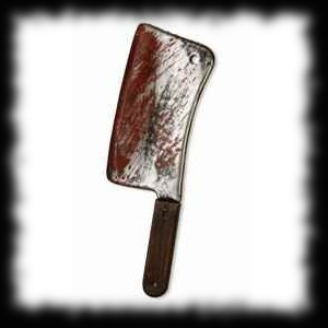 Bloody Butcher Knife Meat Cleaver Haunted House Prop