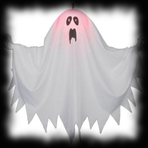 Haunted house party ideas for halloween for Animated floating ghost decoration