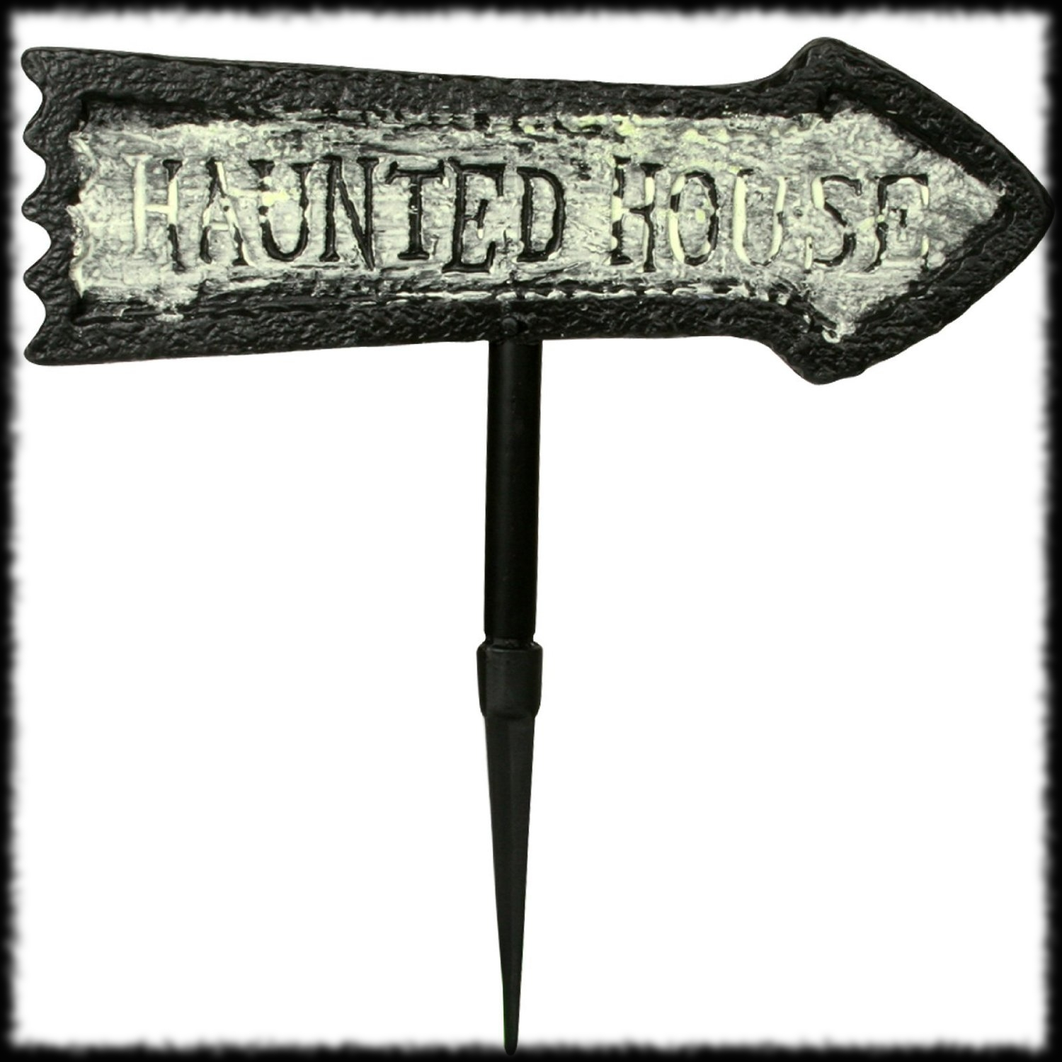 Glow In The Dark Haunted House Sign Halloween Party