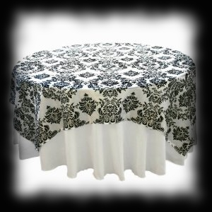 Round Lacey Black Spooky Table Cloth Decoration