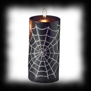 Spider Web Design Halloween Pillar Candle For Sale
