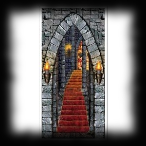 Haunted House Halloween Door Cover For Sale