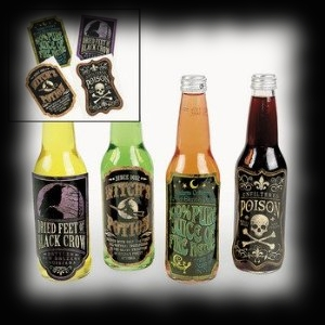 Spooky Halloween Bottle Lable Stickers For Sale