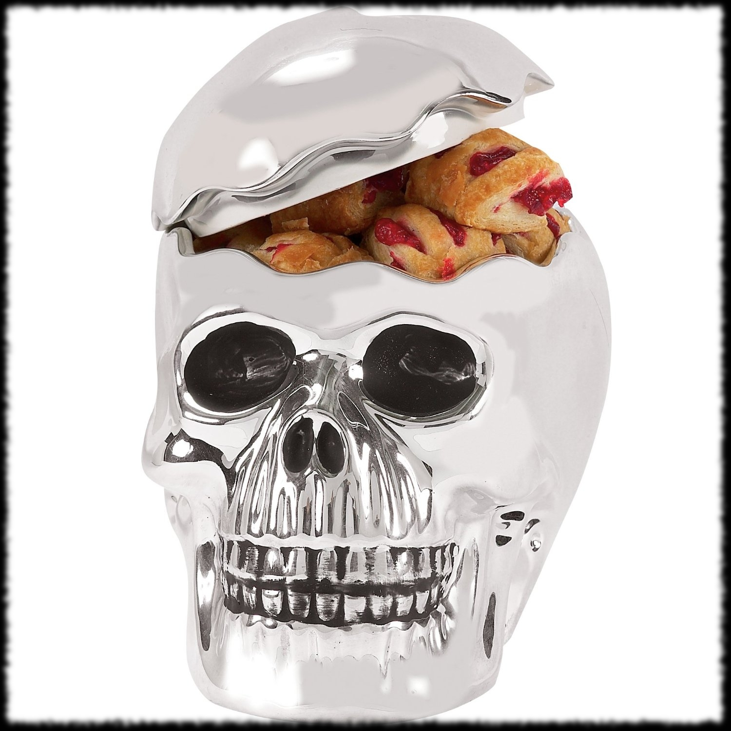 Skeleton Skull Cookie Jar Halloween Decoration