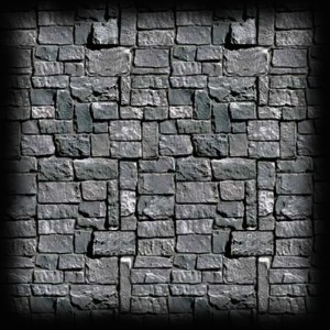 Stone Wall Haunted House Party Decor Ideas