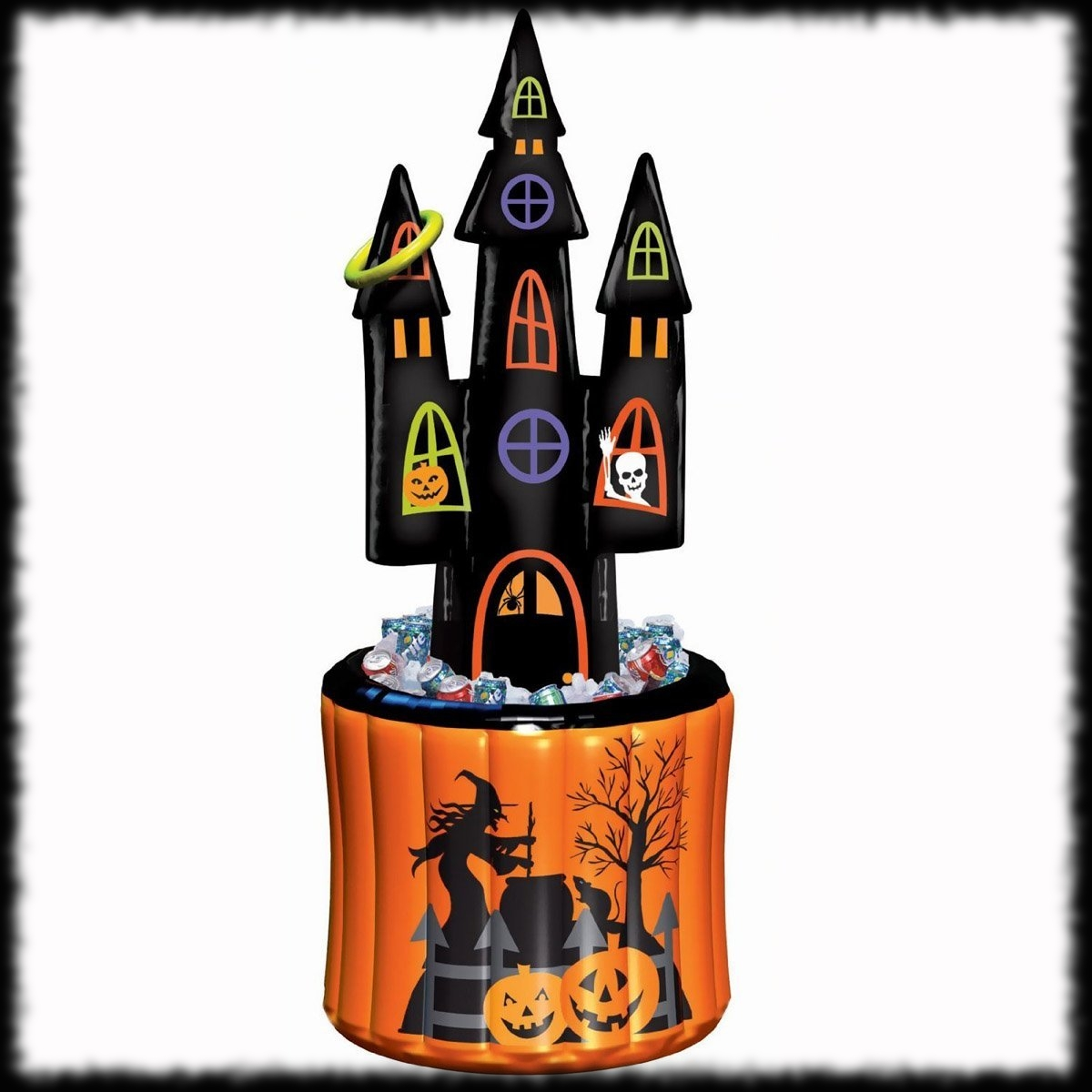 ring toss haunted house halloween cooler inflatable