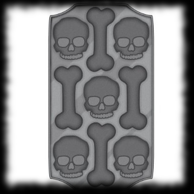 Skull and Bones Ice Maker Halloween Ice Cube Tray