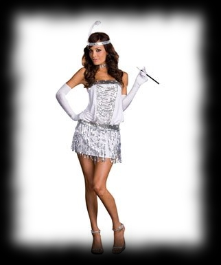 Flapper Girl Halloween Party Idea