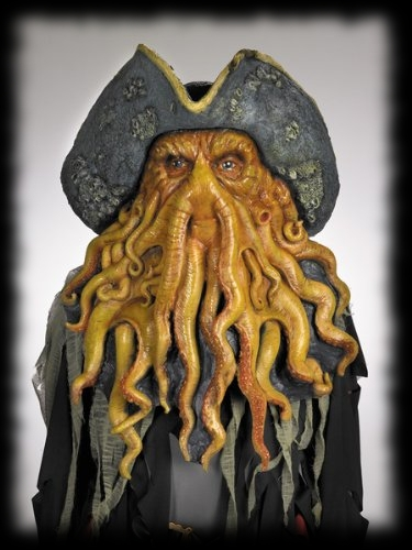 Davy Jones Pirate Mask Halloween Costume Ideas