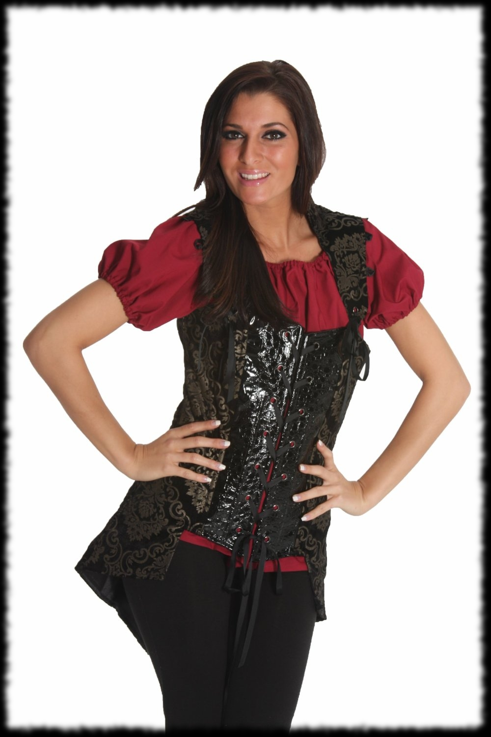 Halloween Costume Ideas Deluxe Lady Pirate Costume Corset with Removable Sleaves