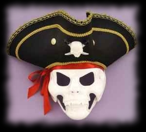 Pirate Mask Halloween Costume with Moving Jaw