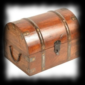 Real Wooden Pirate Treasure Chest Small