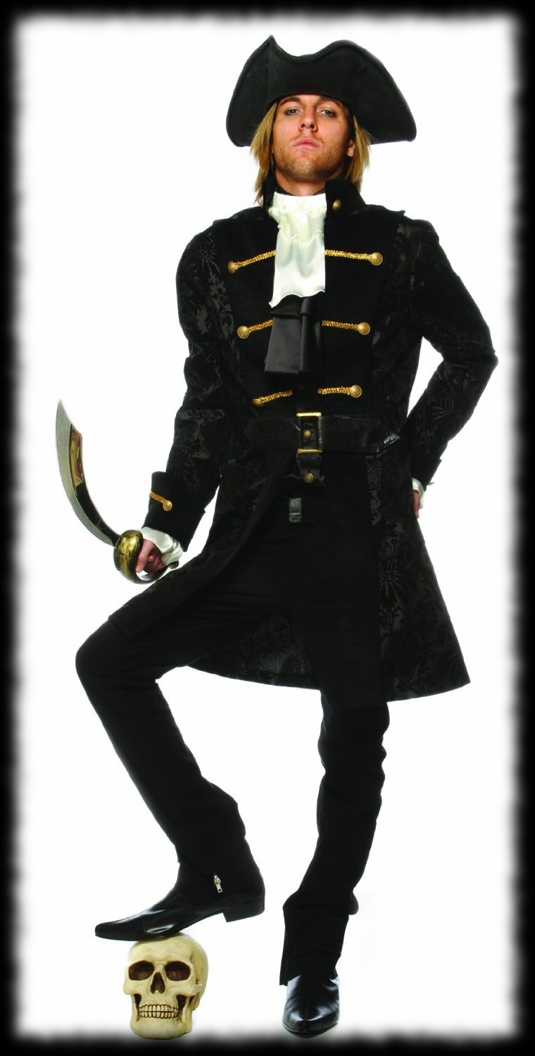Black Pirate Halloween Costume For Sale