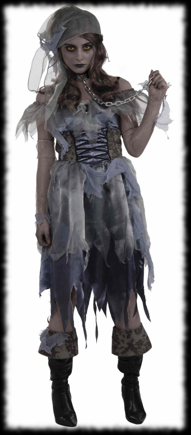 Ladyu0027s Pirate Ghost Halloween Costume  sc 1 st  Party Ideas For Halloween & Pirate Party Ideas For Halloween