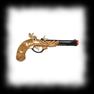 Pirate Pistol Squirt Gun Halloween Costume Accessory Idea