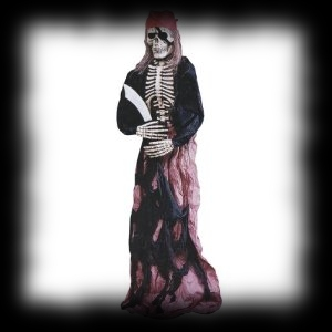 6 Foot Tall Free Standing Pirate Skeleton Halloween Decoration