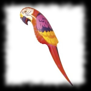 Inflatable Parrot for Pirate Halloween Costume Ideas