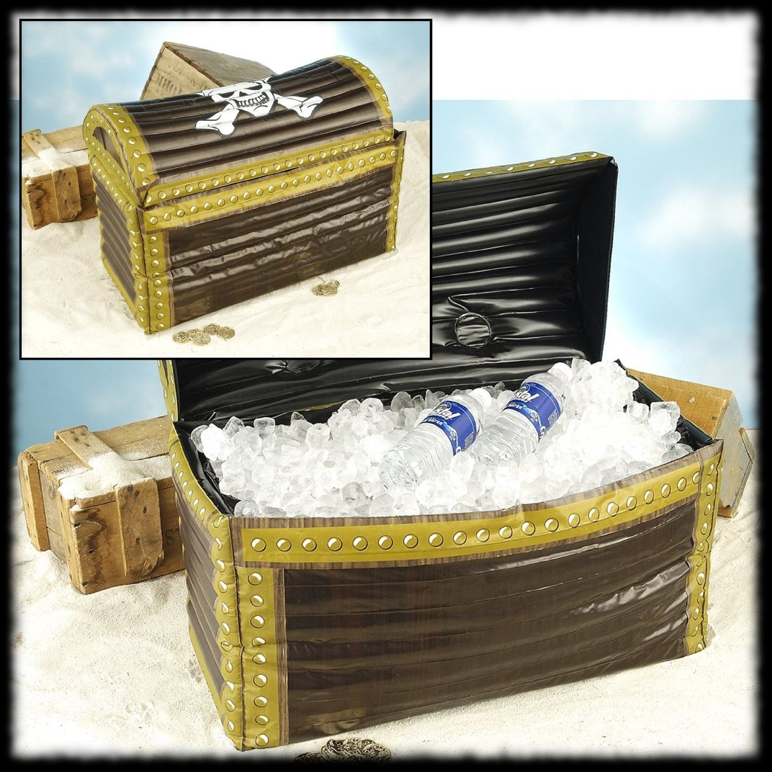Inflatable Pirate Chest Cooler Party Ideas for Halloween