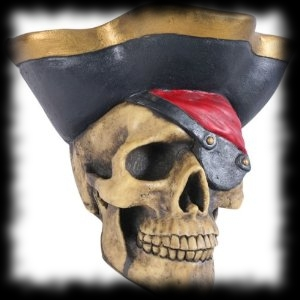 Pirate Skull Halloween Decoration Idea