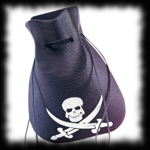 Pirate Skull Coin Pouch Halloween Costume Accessory
