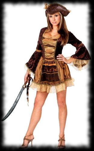 Victorian Lady Pirate Halloween Costume For Sale  sc 1 st  Party Ideas For Halloween & Custom Deluxe Ladyu0027s Pirate Halloween Costume Idea