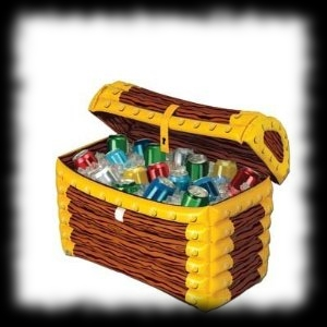 Inflatable Party Coolers Pirate Halloween Theme Treasure Chest