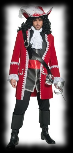 The Kings Navey Captain Red Coat Halloween Costume