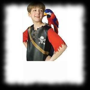 Pirate Parrot Feathered Bird for your shoulder Halloween Costume Accessory