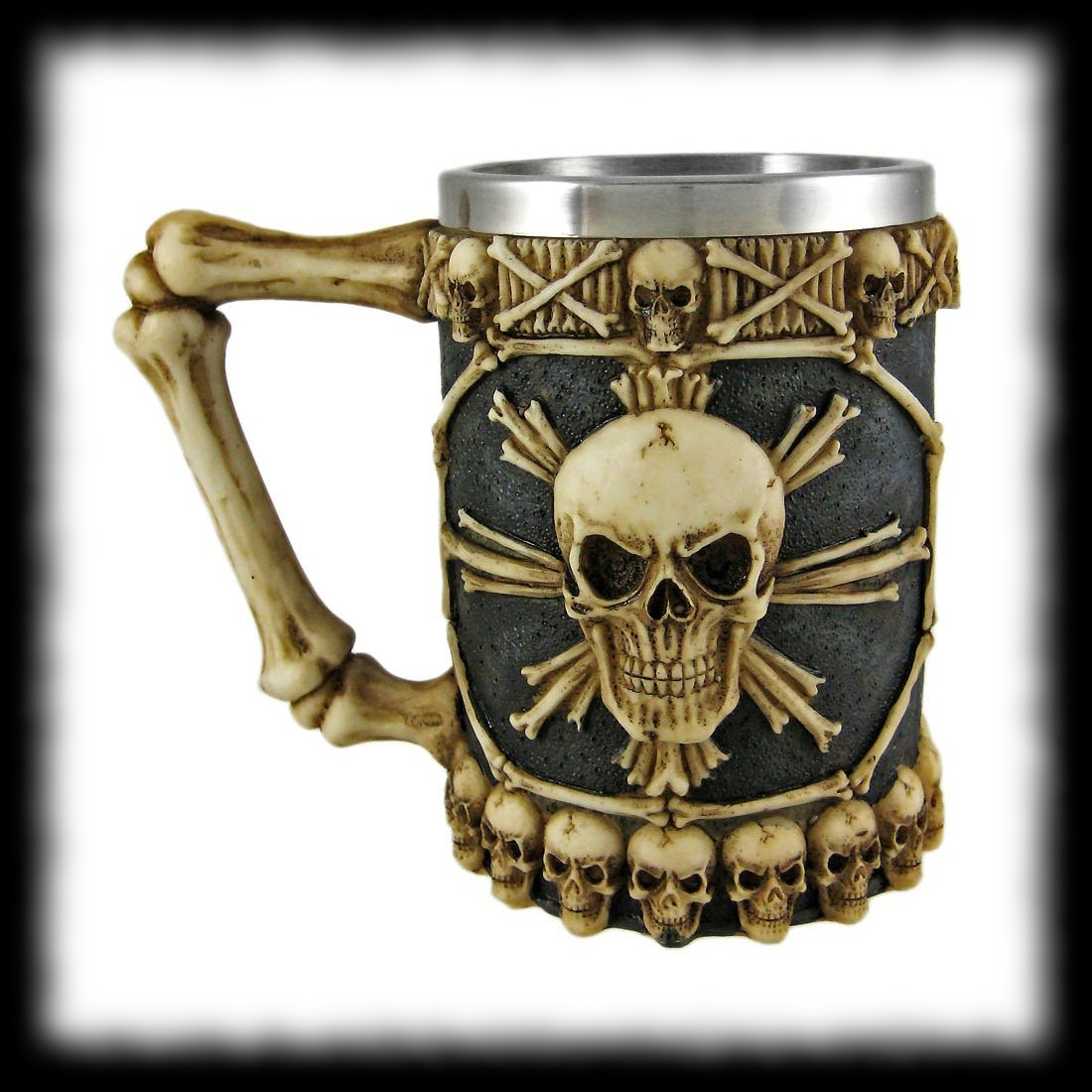 Pirate Skull Beer Stien Tankard For Sale Halloween Cup