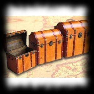 Deluxe Wood Pirate Treasure Chest Real Halloween Decorating Ideas